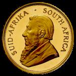 Gouden Krugerrand Paul Kruger voorzijde