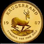 Krugerrand 1 troy ounce Damhert keerzijde